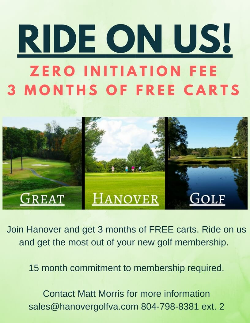 Hanover Golf Club Ride On Us